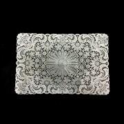 Lugar Americano Crochet 45x30cm Prata Yazi