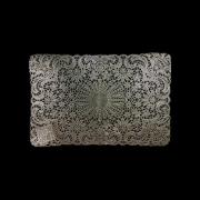 Lugar Americano Crochet 45x30cm Rose Gold Yazi