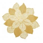 Lugar Americano Flor 47cm Dourada Yazi