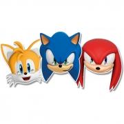 Máscara de Papel Sonic c/6 unid Regina