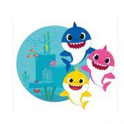 Painel 4 lâminas Baby Shark Cromus