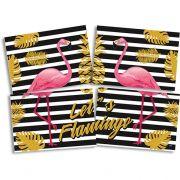 Painel 4 Lâminas Flamingo Festcolor