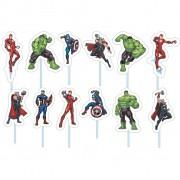 Palito Decorativo Avengers C 12 unid Piffer