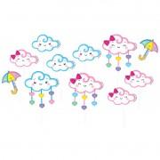 Palito Decorativo Chuva de Amor C 12 unid Piffer