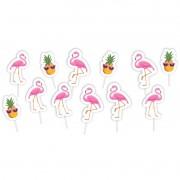 Palito Decorativo Flamingo C 12 unid Piffer