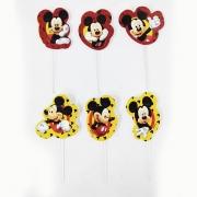 Palito Decorativo Mickey c/12 unid Piffer