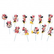 Palito Decorativo Minnie C 12 unid Piffer