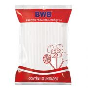 Palito para Pirulito Branco N14 100 unid BWB