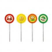 Pick Decorativo Super Mario c/12 unid Cromus