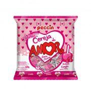 Pirulito Cereja do Amor Recheio Mastigável 480g Peccin