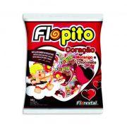 Pirulito Flopito Coração Morango e Chocolate 500g Florestal
