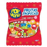 Pirulito Pop com Chicle Frutas Tropicais 600g Riclan
