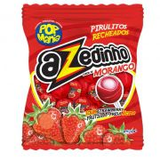 Pirulito Pop Recheado Azedinho Morango 600g Riclan