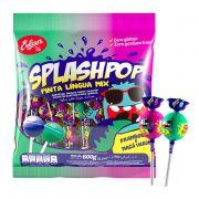 Pirulito Splashpop Pinta Língua Mix 600g Erlan