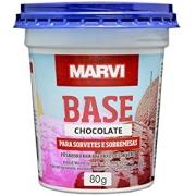 Pó para Sorvete Chocolate 80g Marvi
