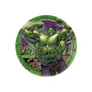 Prato de Papel Hulk 18cm C 12 unid Redondo Regina