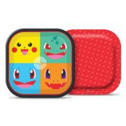 Prato de Papel  Pocket  Monsters  C 08 unid Quadrado Junco