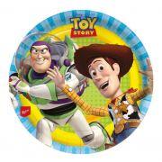 Prato de Papel Toy Story 18cm C 08 unid Redondo Regina