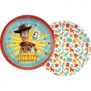 Prato de Papel Toy Story 18cm C 12 unid Redondo Regina