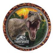 Prato Jurassic World C 08 unid Redondo Festcolor