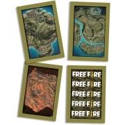 Quadros Decorativos Free Fire c/4 unid Festcolor