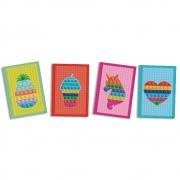 Quadros Decorativos Pop It c/4 unid Festcolor