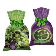 Sacola Surpresa Hulk 14cm x 27cm C 08 unid Regina