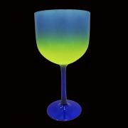 Taça Gin Tricolor 580ml Azul/Verde Limão/Azul Metal