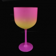 Taça Gin Tricolor 580ml Rosa/Amarelo/Rosa Neon