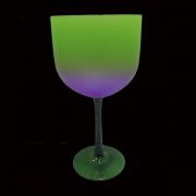 Taça Gin Tricolor 580ml Verde Trans./Roxo/Verde Neon