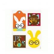Tags Decorativas para Ovos de Páscoa c/12 unid Páscoa Cores