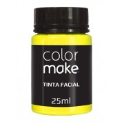 Tinta Facial Amarela 25ml Colormake