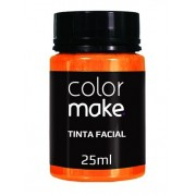 Tinta Facial Laranja 25ml Colormake