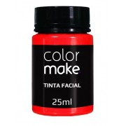 Tinta Facial Vermelha 25ml Colormake
