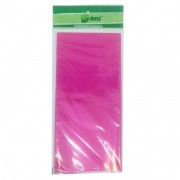 Toalha Plástica Pink 70cm x 70cm C 10 unid Dani