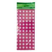 Toalha Plástica Xadrez Pink 70cm x 70cm C 10 unid Dani