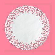 Toalha Rendada Papel Branco 30 cm 10 unid Mago