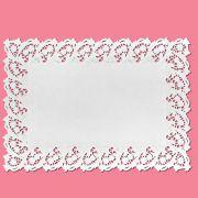 Toalha Rendada Papel Branco 45 cm x 31 cm 06 unid Mago
