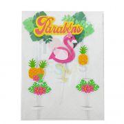 Topo de Bolo de Papel Flamingo Decora Doces