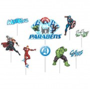 Topo de Bolo Impresso Avengers Piffer