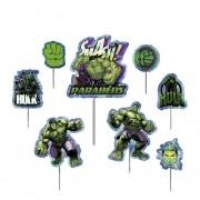 Topo de Bolo Impresso Hulk Piffer