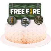 Topper para Bolo Free Fire c/4 unid Festcolor
