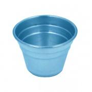 Vaso Plástico 11cm x 9cm Azul Metal Fosco