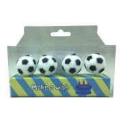 Vela Bola de Futebol 4 unid Popper