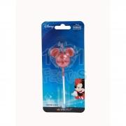 Vela Mickey Metalizada Vermelha