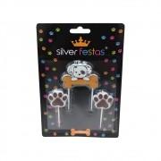 Vela Pet c/3 unid Silver Festas