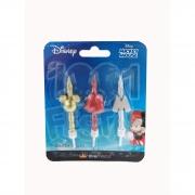 Vela Trio Mickey Mini Palito Espiral
