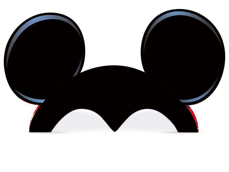 Chapéu Orelha Mickey C 08 unid Regina