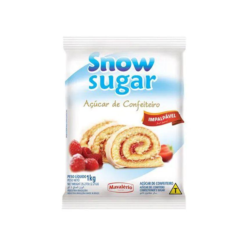 Açúcar de Confeiteiro Impalpável Snow Sugar Mavalério 1kg