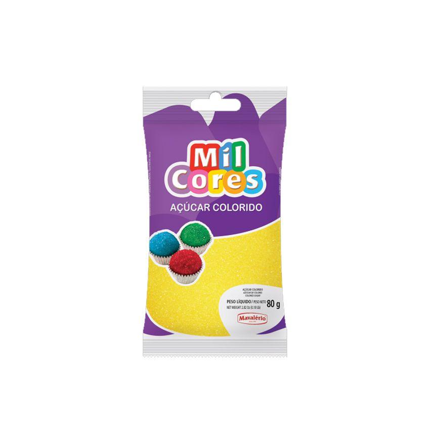 Açúcar Mil Cores Amarelo 80g Mavalério